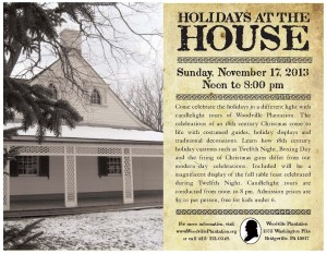 Holidays at the House Flyer